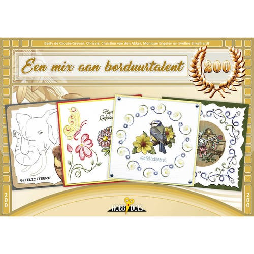 Card Deco - Hobbydols - No. 200 - Een mix aan borduurtalent - HD200