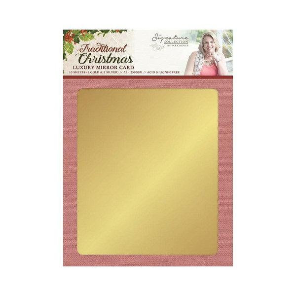 Crafter`s Companion - Luxury Mirror Card - Sara Davies - Traditional Christmas - S-TX-MIRROR