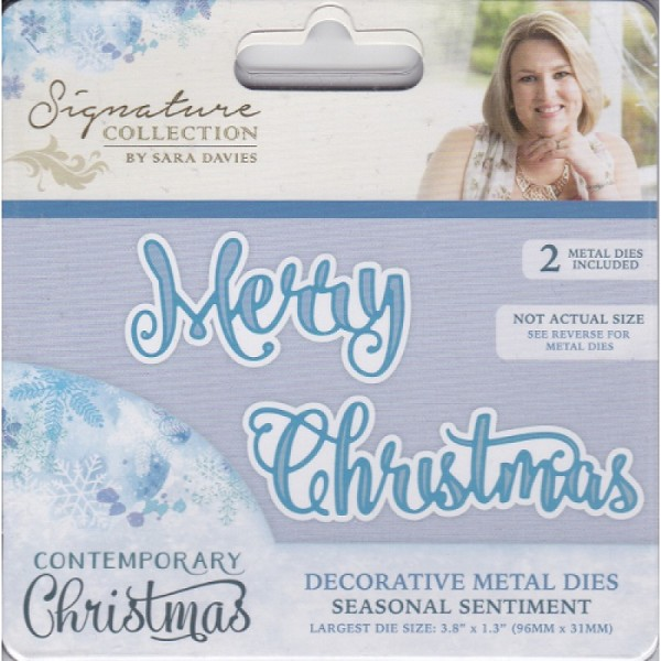 Crafter`s Companion - Sara Davies - Die - Contemporary Christmas - Seasonal Sentiment - S-CX-MD-SEAS