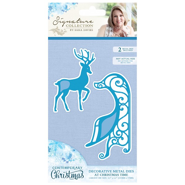 Crafter`s Companion - Sara Davies - Die - Contemporary Christmas - At Christmas Time - S-CX-MD-CTIME