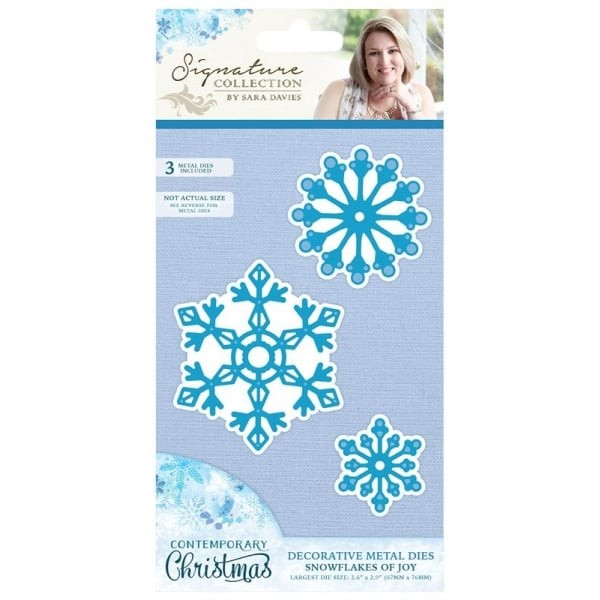 Crafter`s Companion - Sara Davies - Die - Contemporary Christmas - Snowflakes of Joy - S-CX-MD-SJOY