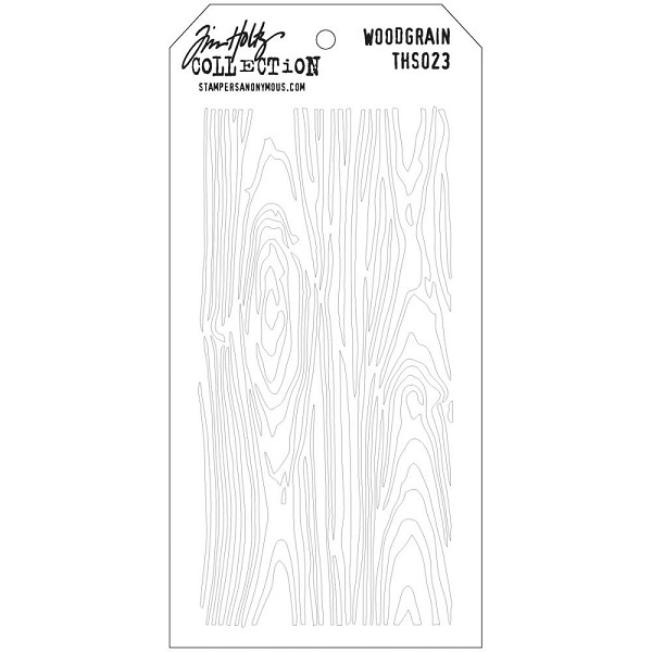 Stampers Anonymous - Tim Holtz - Layering stencil - Woodgrain - THS023
