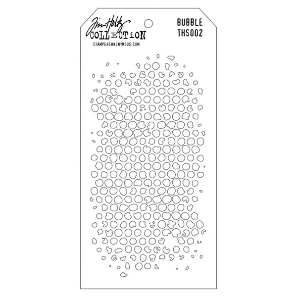 Stampers Anonymous - Tim Holtz - Layering stencil - Bubble - THS002