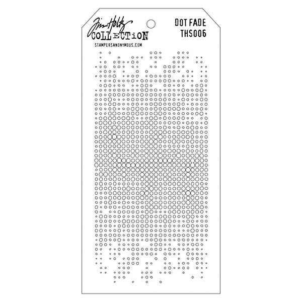 Stampers Anonymous - Tim Holtz - Layering stencil - Dot Fade - THS006