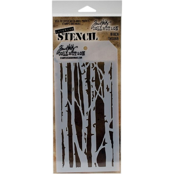 Stampers Anonymous - Tim Holtz - Layering stencil - Birch - THS069