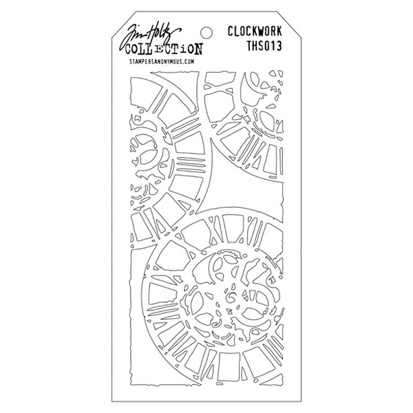 Stampers Anonymous - Tim Holtz - Layering stencil - Clockwork - THS013