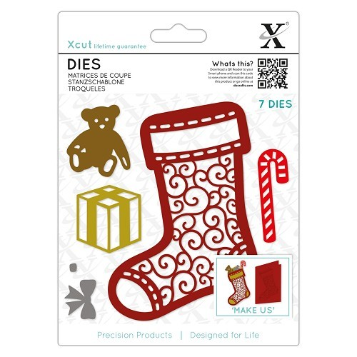 Docrafts - Xcut - Die - Filigree Christmas Stocking