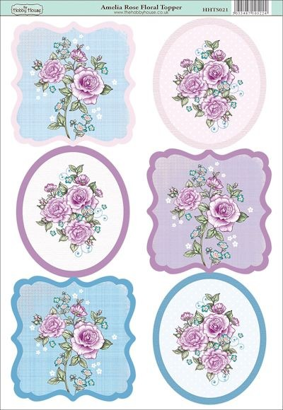 The Hobby House - Floral Topper - (3D-)Stansvel A4 - Amelia Rose - HHTS021