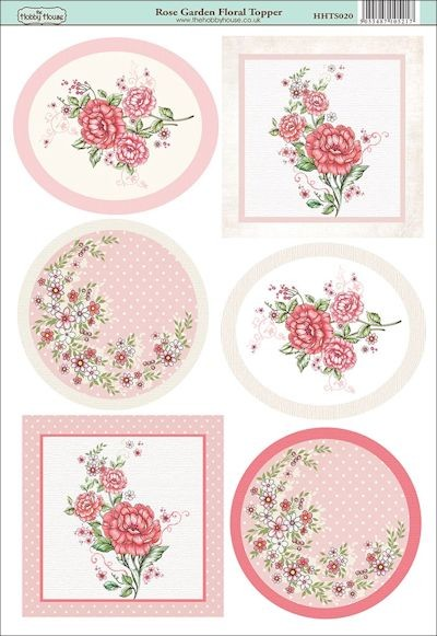 The Hobby House - Floral Topper - (3D-)Stansvel A4 - Rose Garden - HHTS020
