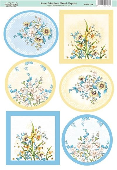 The Hobby House - Floral Topper - (3D-)Stansvel A4 - Sweet Meadow - HHTS017