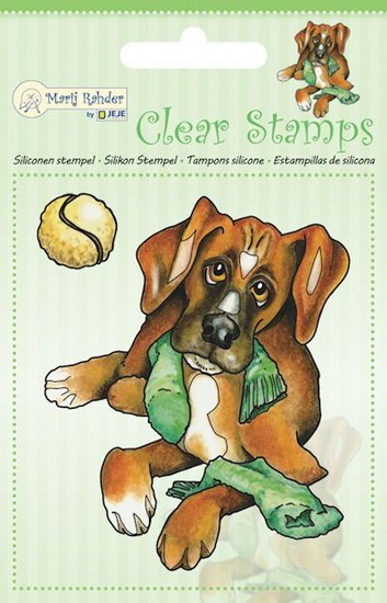 Marij Rahder - Clearstamp - Dog - 9.0043
