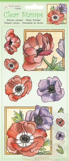 Marij Rahder - Clearstamp - Poppy - 9.0049