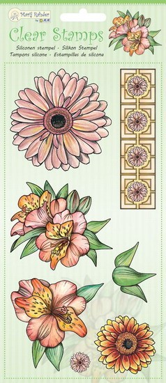 Marij Rahder - Clearstamp - Flowers - 9.0048