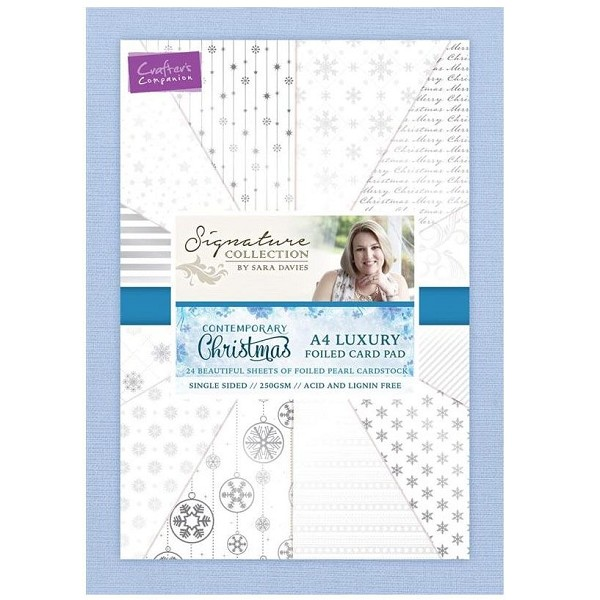 Crafter`s Companion - Sara Davies - Paperpack - A4 - Contemporary Christmas - S-CX-PADA4