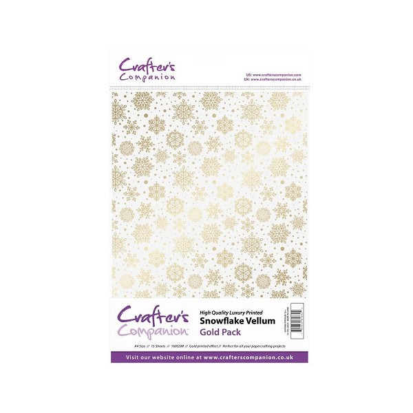 Crafter`s Companion - Vellum - Snowflake: Gold