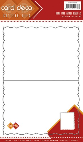 Card Deco - Die - Frame Card - Fantasy Scallop - A5 - CDCD10002