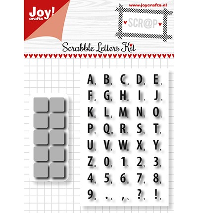 Joy! crafts - Noor! Design - Clearstamp met mal - Scrabble - 6004/0016