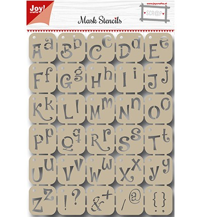 Joy! crafts - Noor! Design - Maskingstencil - Alphabet - 6002/0842