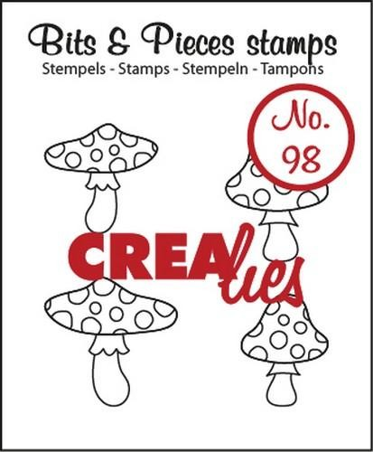 Crealies - Clearstamp - Bits & Pieces - No. 98 - Mushrooms - CLBP98
