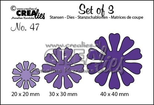 Crealies - Die - Set of 3 - Flowers - No. 47