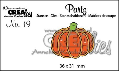 Crealies - Die - Partz - No. 19 - Pumpkin A