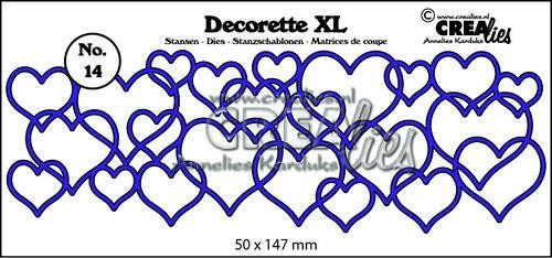 Crealies - Die - Decorette XL - No. 14 - Interlocking hearts