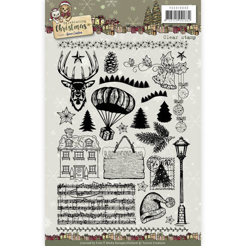 Yvonne Creations - Clearstamp - Celebrating Christmas