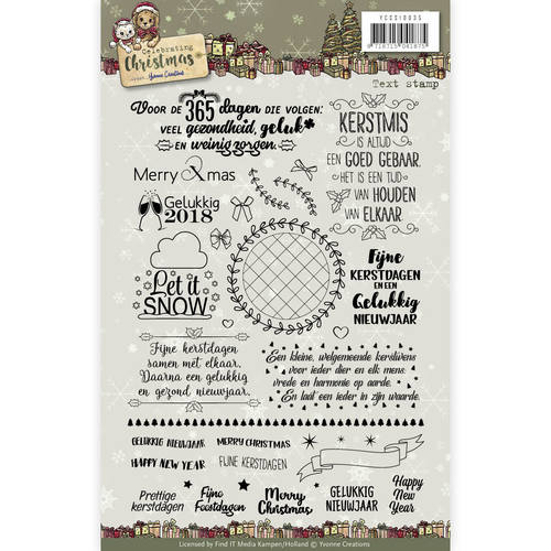 Yvonne Creations - Clearstamp - Celebrating Christmas - YCCS10035