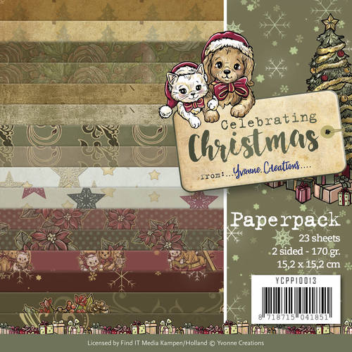 Yvonne Creations - Paperpack - Celebrating Christmas - YCPP10013