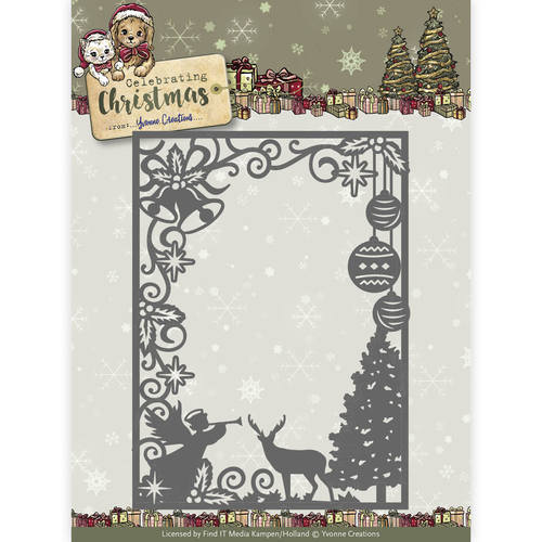 Yvonne Creations - Die - Celebrating Christmas - Scene Rectangle Frame - YCD10114