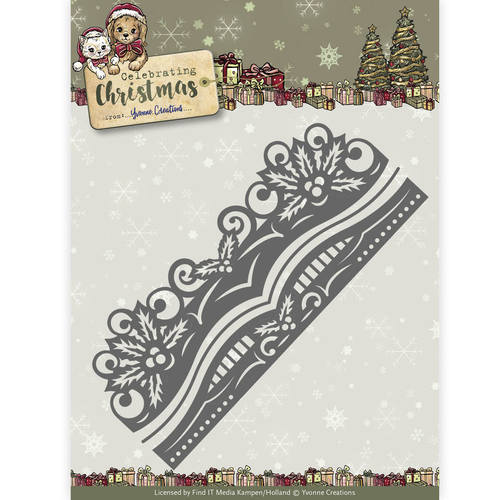 Yvonne Creations - Die - Celebrating Christmas- Holly Border - YCD10112