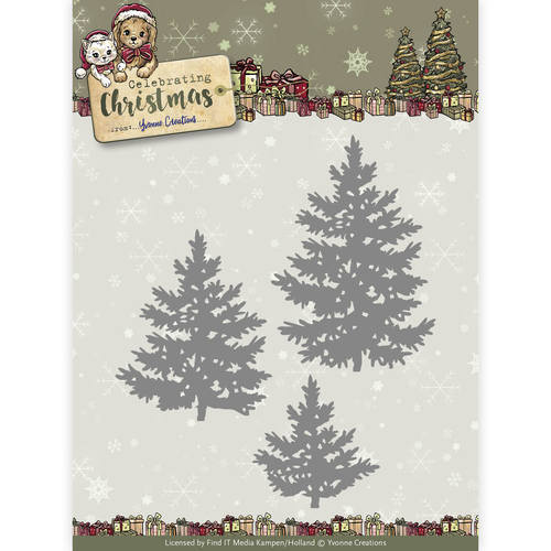 Yvonne Creations - Die - Celebrating Christmas - Pine Trees - YCD10111
