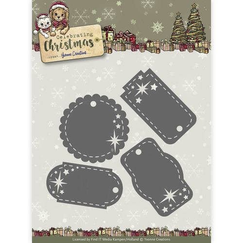 Yvonne Creations - Die - Celebrating Christmas - Star Tags - YCD10110