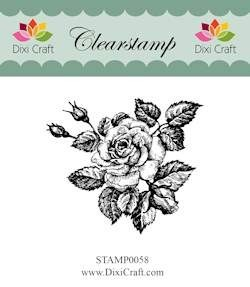 Dixi Craft - Clearstamp - Roses - STAMP0058