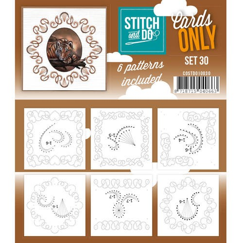 Card Deco - Stitch & Do - Oplegkaarten - Cards only - Set 30 - COSTDO10030