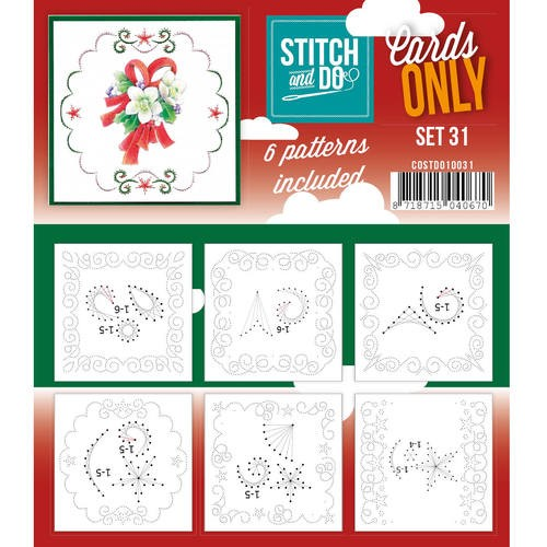 Card Deco - Stitch & Do - Oplegkaarten - Cards only - Set 31 - COSTDO10031