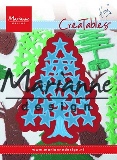 Marianne Design - Die - CreaTables - Tiny`s Christmas tree with stars - LR0490