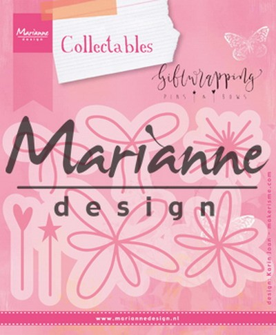 Marianne Design - Die - Collectables - Giftwrapping - Karin`s pins & bows - COL1441
