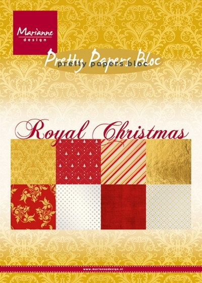 Marianne Design - Paperpack - Pretty Papers - Royal Christmas - PK9151