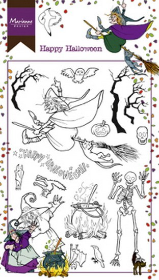 Marianne Design - Hetty Meeuwsen - Clearstamp - Hetty`s Happy Halloween - HT1626