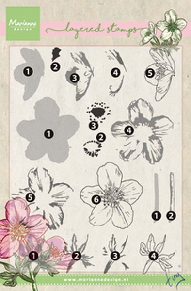 Marianne Design - Tiny`s - Clearstamp - Tiny`s helleborus (layering) - TC0861