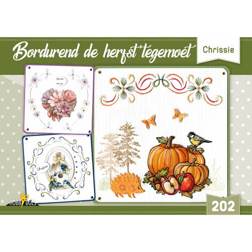 Card Deco - Hobbydols - No. 202 - Bordurend de herfst tegemoet - HD202