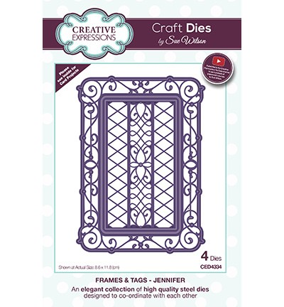 Creative Expressions - Die - The Frames & Tags Collection - Jennifer - CED4334