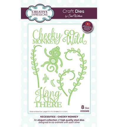 Creative Expressions - Die - The Necessities Collection - Cheeky Monkey - CED23009
