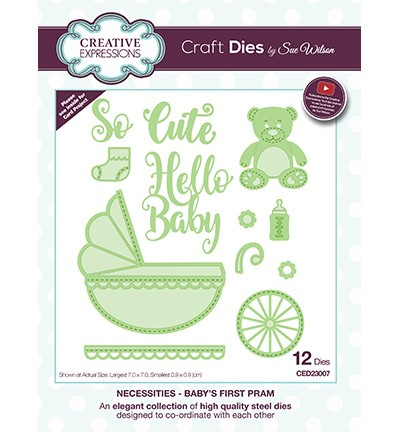 Creative Expressions - Die - The Necessities Collection - Baby`s First Pram - CED23007