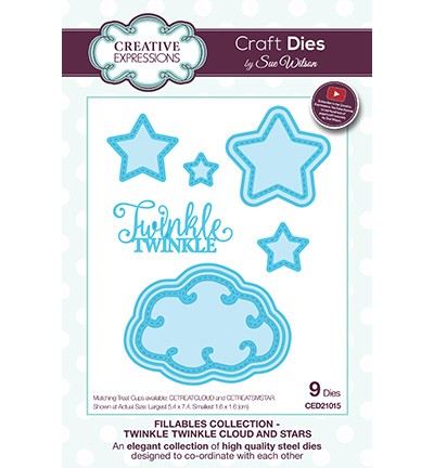 Creative Expressions - Die - The Fillables Collection - Twinkle Twinkle Cloud and Stars - CED21015