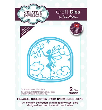 Creative Expressions - Die - The Fillables Collection - Fairy Snow Globe Scene - CED21013