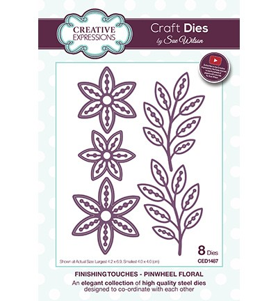 Creative Expressions - Die - The Finishing Touches Collection - Pinwheel Floral - CED1487