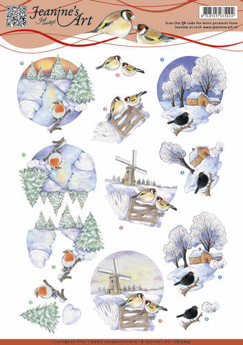 Jeanine`s Art - 3D-knipvel A4 - Winter landscape 3 - CD10842