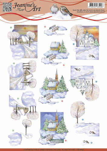 Jeanine`s Art - 3D-knipvel A4 - Winter landscape 2 - CD10841